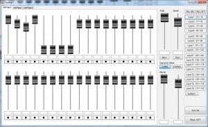 DMX制御ソフトウェア(マニュアルモード)